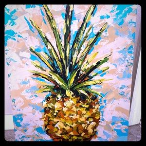 Canvas Pineapple Art